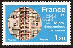 France 1981 1f.20 Micro-electronics. SG2387.