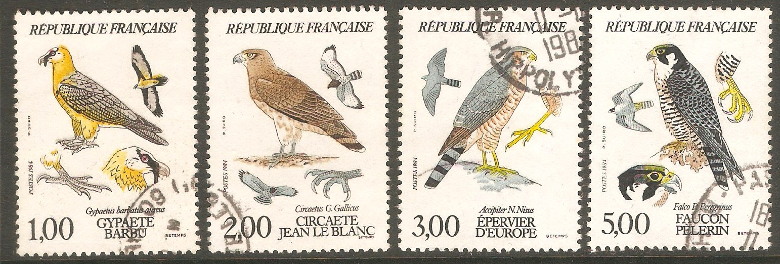 France 1984 Birds of Prey Set. SG2643-SG2646.