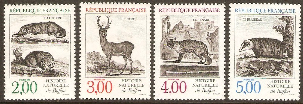 France 1988 Animals set. SG2839-SG2842.