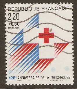 France 1988 2f.60 +60c Red Cross Fund. SG2855a.