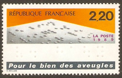 France 1989 2f.20 The Blind stamp. SG2861.