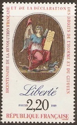 France 1989 2f.20 Revolution series - Liberty. SG2871.
