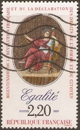 France 1989 2f.20 Revolution series - Equality. SG2872.