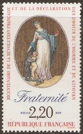 France 1989 2f.20 Revolution series - Fraternity. SG2873.