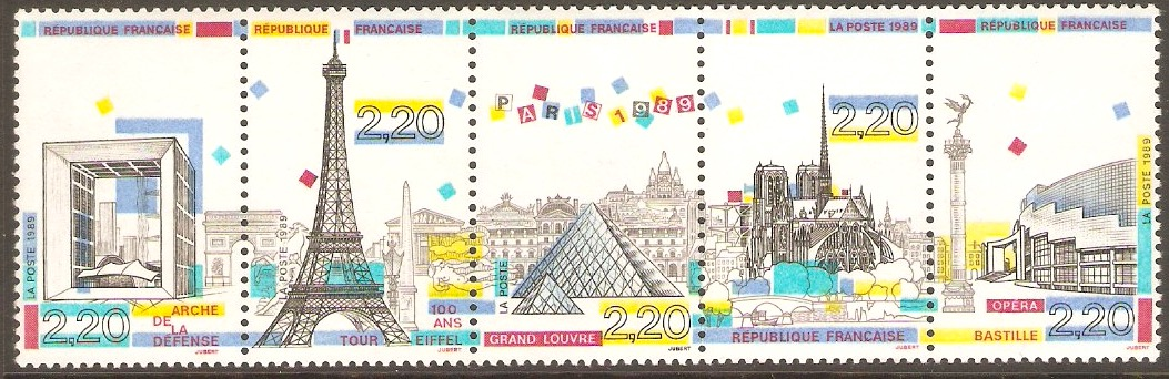 France 1989 Paris Panorama strip. SG2876a.
