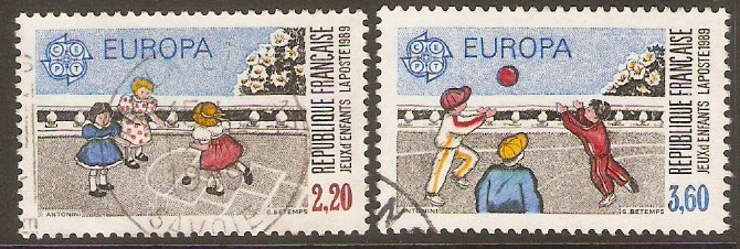 France 1989 Europa Children's Games set. SG2881-SG2882.