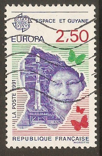 France 1991 2f.50 Europe in Space series. SG3029.