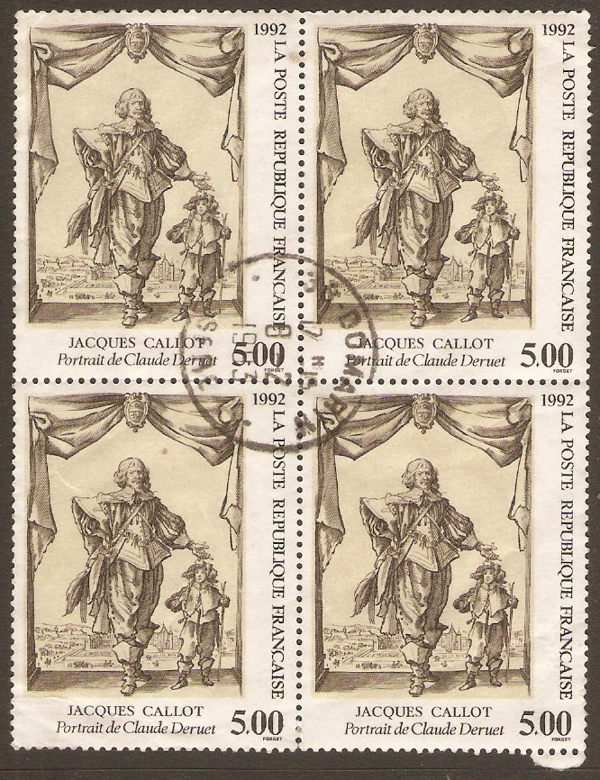 France 1992 5f Jaques Callot Stamp. SG3025.