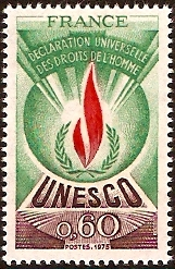 France 1975 60c Human Rights Stamp. SGU13.