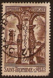 France 1935 3f50 Brown - St. Trophime, Arles. SG527.