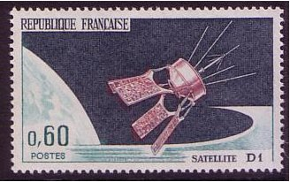 "France 1966 Satellite ""D1"" Stamp. SG1708."