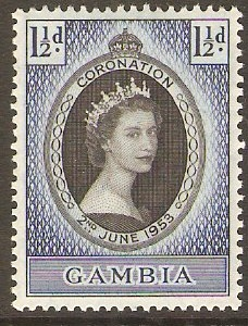 Gambia 1953 1½d Coronation Stamp. SG170.