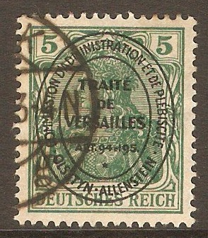 Allenstein 1920 5pf Green. SG15.