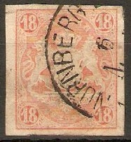 Bavaria 1867 18k Brick red - Imperf. SG50.