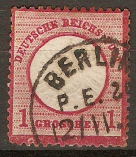 Germany 1872 1g Rose-carmine. SG5.