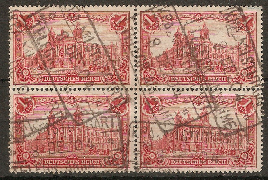 Germany 1902 1m Carmine-red. SG77A.