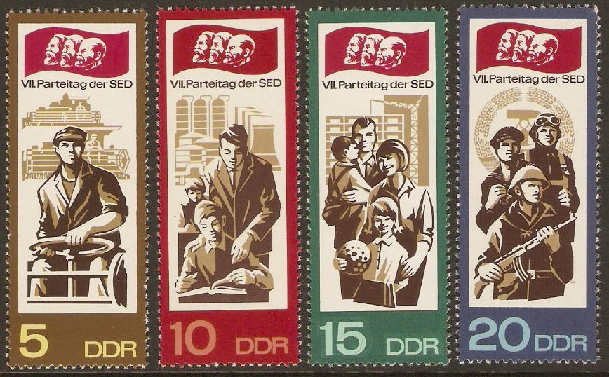 East Germany 1967 Party Rally Set. SGE981-E984