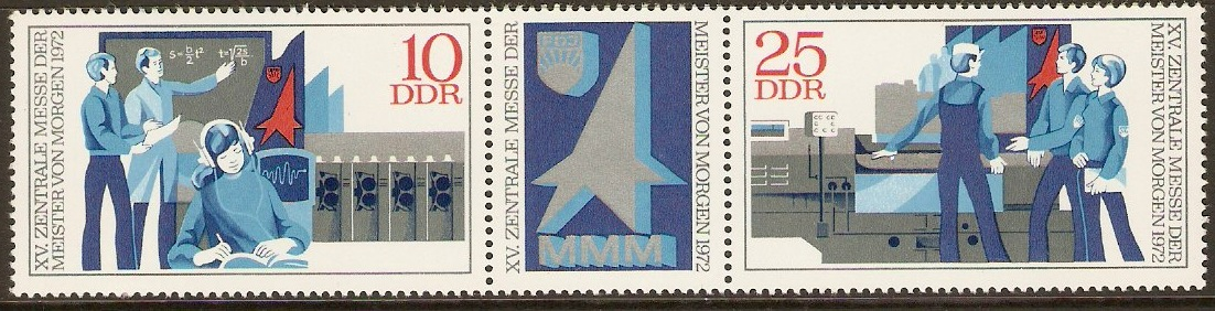 East Germany 1972 Juvenile Inventions Strip. SGE1517a.