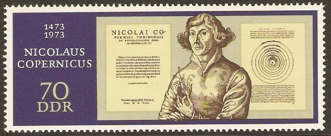 East Germany 1973 Copernicus Anniversary Stamp. SGE1562.