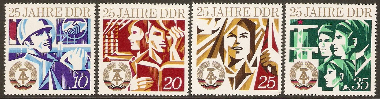 East Germany 1974 GDR Anniversary Set. SGE1664-SG1667.