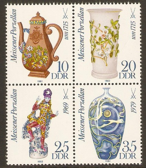 East Germany 1982 Meissen China Anniversary. SGE2377a.