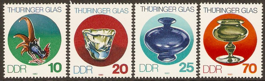 East Germany 1983 Thuringian Glass Set. SGE2550-SGE2553.