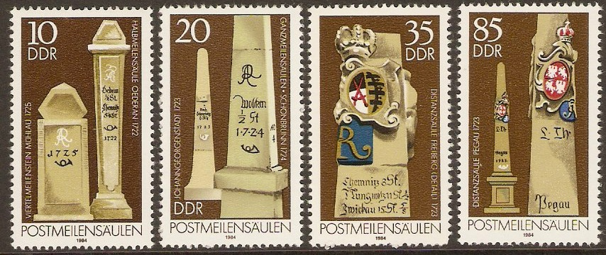 East Germany 1984 Postal Milestones Set. SGE2565-SGE2568.