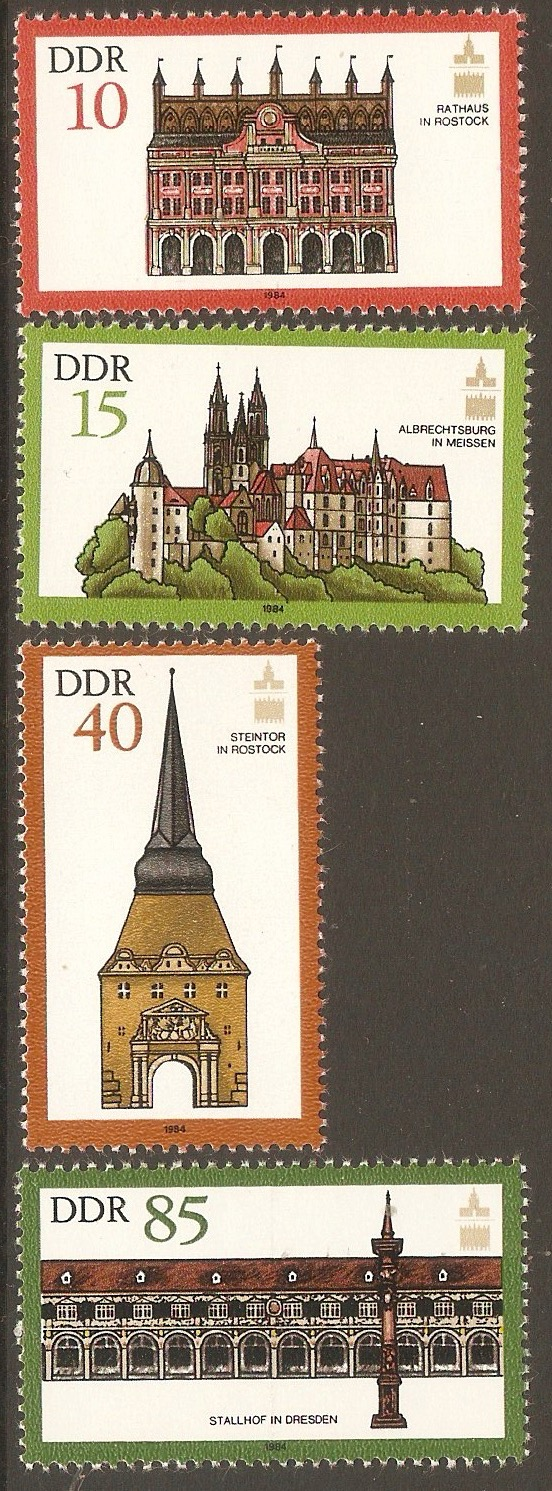 East Germany 1984 Monuments Preserv. Assembly. SGE2580-SGE2583.