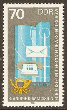 East Germany 1984 70pf Posts & Telecomms Meeting. SGE2584.