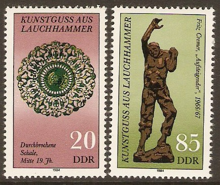 East Germany 1984 Lauchhammer Cast Iron set. SGE2585-SGE2586.