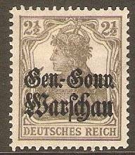 GOI-Poland 1916 2½pf Grey. SG6.