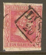 Germany 1858 1sgr Carmine-rose. SG17.
