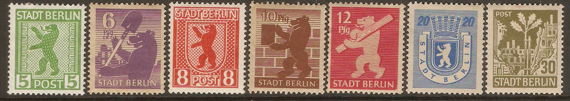 Germany 1945 Stadt Berlin set. SGRA1-SGRA7.