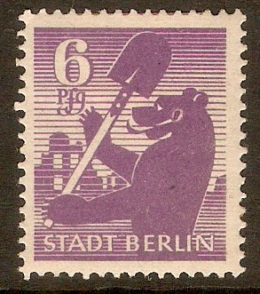 Germany 1945 6pf Stadt Berlin series. SGRA2.