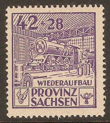 Germany 1946 42pf +28pf Violet. SGRC31.