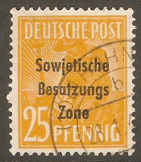 Germany 1948 25pf Yellow-orange. SGR10.