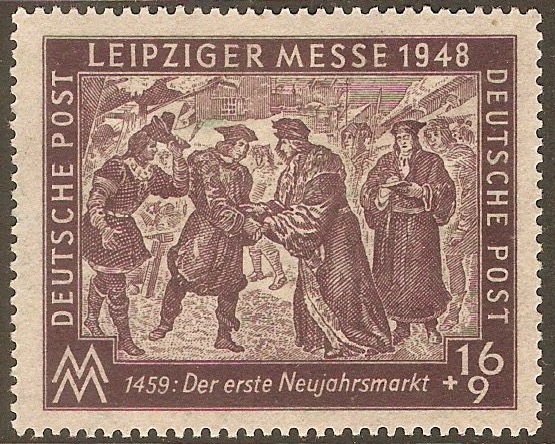 Germany 1948 16pf +9pf Leipzig Autumn Fair series. SGR31.