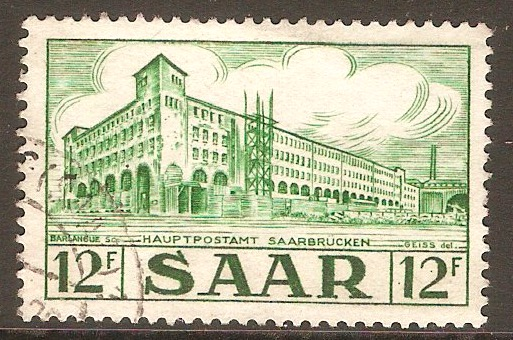 Saar 1952 12f Views series. SG323.