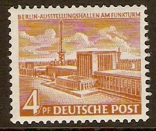 West Berlin 1949 4pf Berlin Buildings Series. SGB36c.