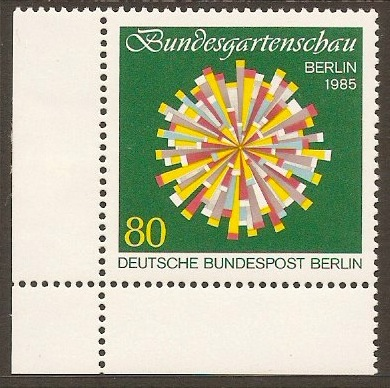 West Berlin 1985 80pf Horticultural Show Stamp. SGB696.