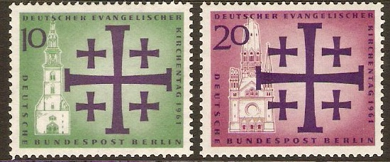 West Berlin 1961 Churches Day Set. SGB210-SGB211.