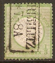 Germany 1872 1/3g Yellow-green. SG17.