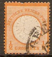 Germany 1872 ½g Orange. SG18.