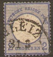 Germany 1872 2g Blue. SG20.