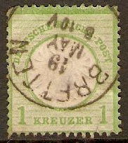 Germany 1872 1k Yellow-green. SG23.