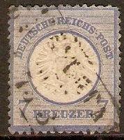 Germany 1872 7k Blue. SG26.