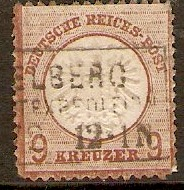 Germany 1872 9k Chestnut. SG27.