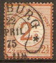 Germany 1872 2½g Chestnut. SG29.