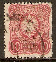 Germany 1875 10pf Carmine. SG33.