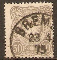 Germany 1875 50pf Grey-black. SG36.